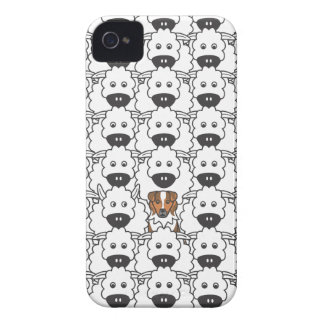 Australian Shepherd in the Sheep Case-Mate iPhone 4 Cases