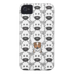 Australian Shepherd in the Sheep iPhone 4 Case-Mate Cases