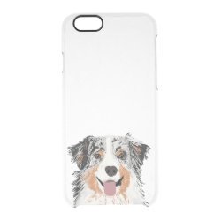 Uncommon iPhone 6 Clearly™ Deflector Case with Australian Shepherd Phone Cases design