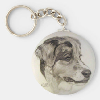 Australian Shepherd Keychain - org. artwork