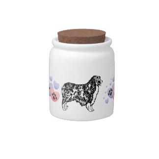 Australian Shepherd Love Candy Jars