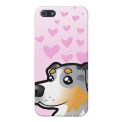 Case Savvy iPhone 5 Matte Finish Case with Australian Shepherd Phone Cases design