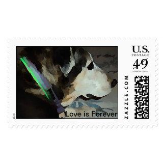 Australian Shepherd Love is Forever Stamp