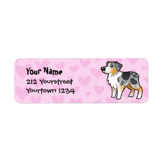 Australian Shepherd Love Return Address Label