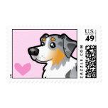 Australian Shepherd Love Stamp