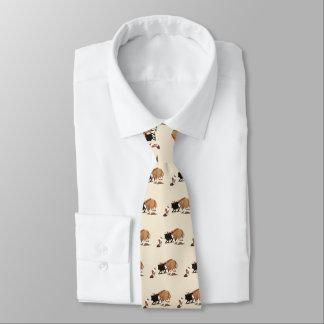 Australian Shepherd Mens double-sided printNecktie Neck Tie