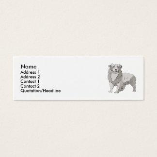 Australian Shepherd Mini Business Card