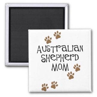 Australian Shepherd Mom 2 Inch Square Magnet