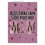 Australian Shepherd MOM Greeting Card