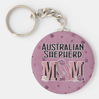 Australian Shepherd MOM Keychain
