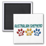 AUSTRALIAN SHEPHERD MOM Paw Print Magnet