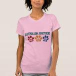 AUSTRALIAN SHEPHERD MOM Paw Print Tshirt