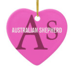 Australian Shepherd Monogram Ceramic Ornament