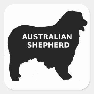 Australian Shepherd name silo Square Sticker