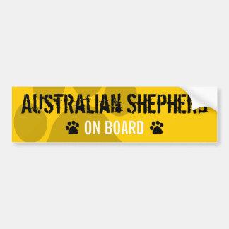Australian Shepherd on Board Car Bumper Sticker