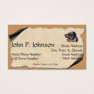 Australian Shepherd on Old Parchment Business Card