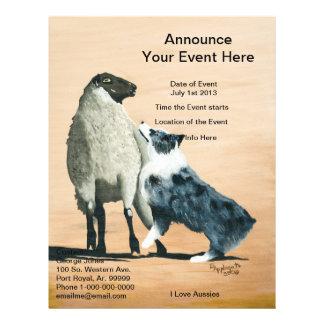 "Australian Shepherd ""One Tough Sheepdog"" Painting Flyer"