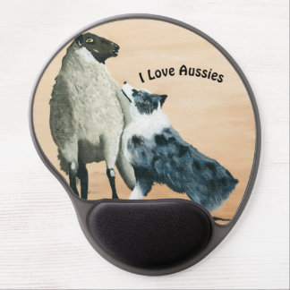 "Australian Shepherd ""One Tough Sheepdog"" Painting Gel Mouse Pad"