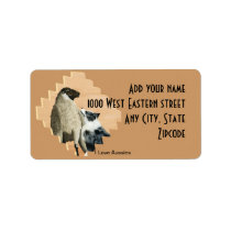 "Australian Shepherd ""One Tough Sheepdog"" Painting Label"