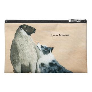 "Australian Shepherd ""One Tough Sheepdog"" Painting Travel Accessory Bags"