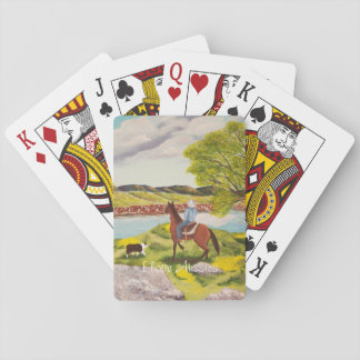 """Australian Shepherd """"Out of the West"""" Painting Poker Cards"""