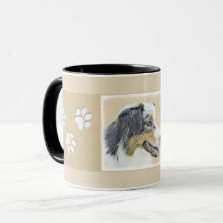 Australian Shepherd Painting - Original Dog Art Mug