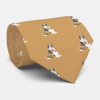 Australian Shepherd Pair Necktie