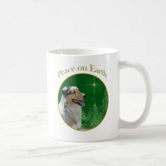 Australian Shepherd Peace Coffee Mug