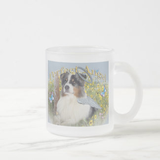 Australian Shepherd Perfect Angel 10 Oz Frosted Glass Coffee Mug