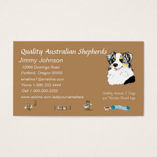 Australian Shepherd Personalized Business Card