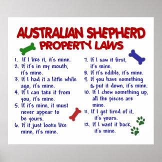 AUSTRALIAN SHEPHERD PL2 POSTER