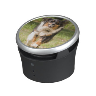 Australian Shepherd Playing With Ball Bluetooth Speaker