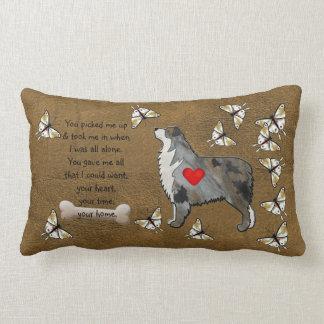 Australian Shepherd Poem Lumbar Pillow