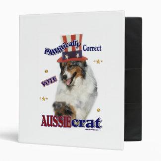 Australian Shepherd Political Humor Binder