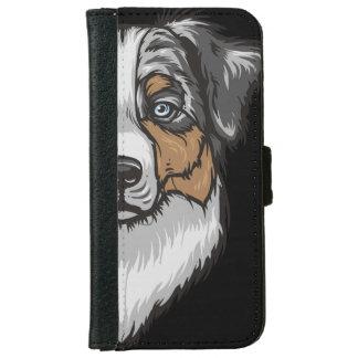 Australian Shepherd Portrait iPhone 6/6s Wallet Case