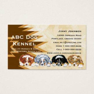 Australian Shepherd Puppies Custom Business Card