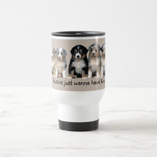 Australian Shepherd Puppies Travel Mug