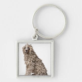 Australian Shepherd puppy full of Clothespin (5 Keychain