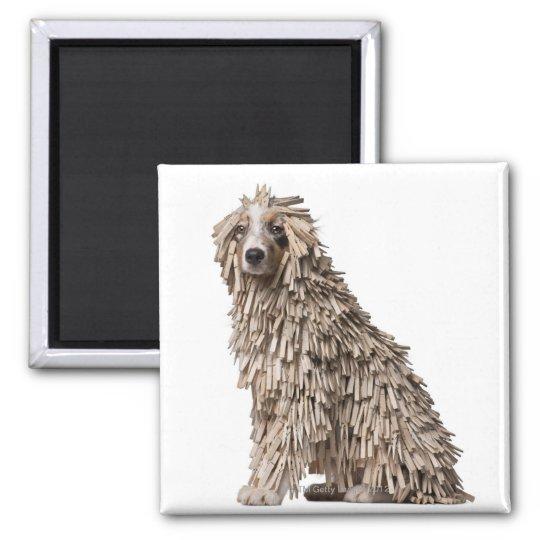 Australian Shepherd puppy full of Clothespin (5 Magnet
