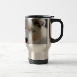 Australian shepherd puppy travel mug