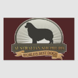 Australian Shepherd Rectangle Stickers