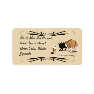Australian Shepherd Red Cowdog Address Label