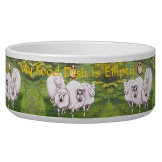 Australian Shepherd ~ Red Merle Herding Feed Me Dog Food Bowls
