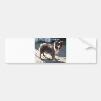 australian shepherd red tri love w pic bumper sticker