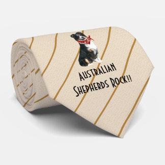Australian Shepherd Rock double-sided print Tie