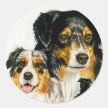 Australian Shepherd Round Stickers