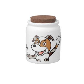 australian shepherd rred merle peeking candy jar