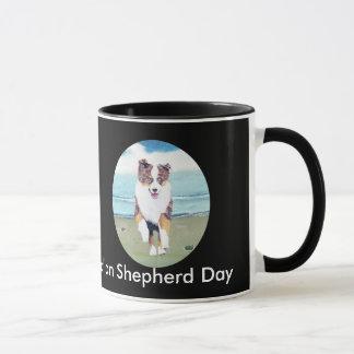 Australian Shepherd ~ Running Red Merle Puppy Mug