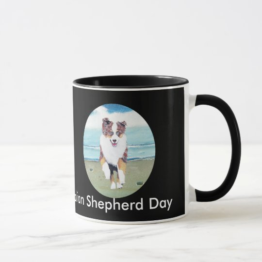 Australian Shepherd ~ Running Red Merle Puppy Mug