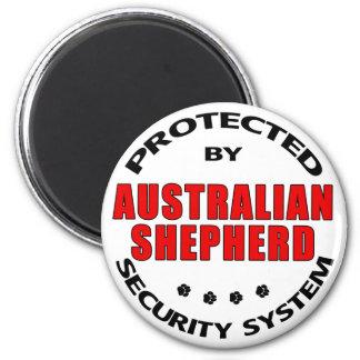 Australian Shepherd Security 2 Inch Round Magnet